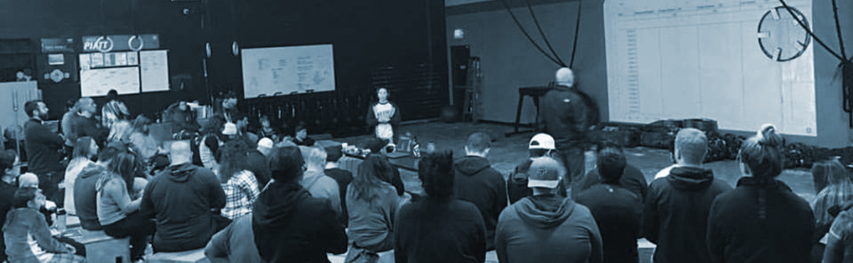 Image of the crowd during Coast Range Crossfit Nutrition night
